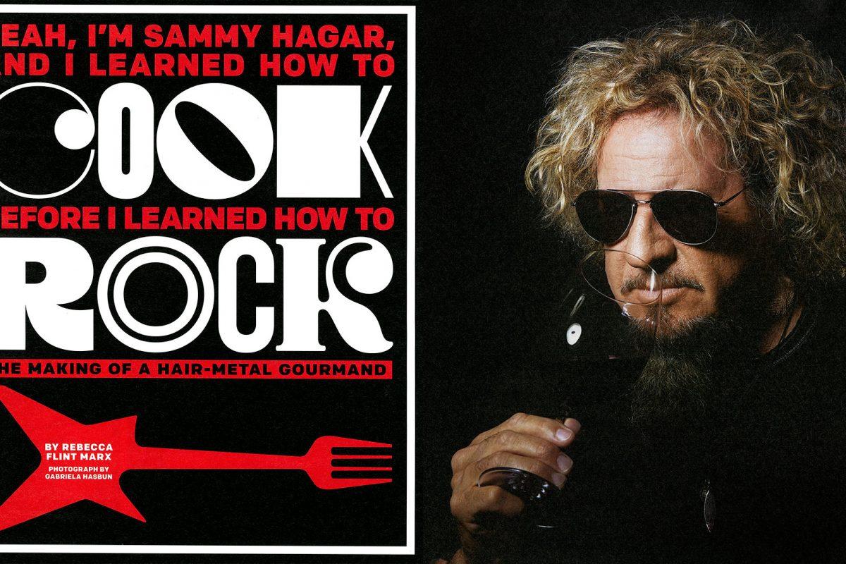 Sammy Hagar for SF mag.