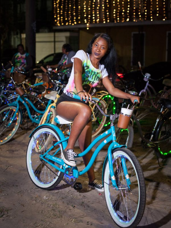 Night Bikes on Esplanade Avenue. New Orleans. 2016