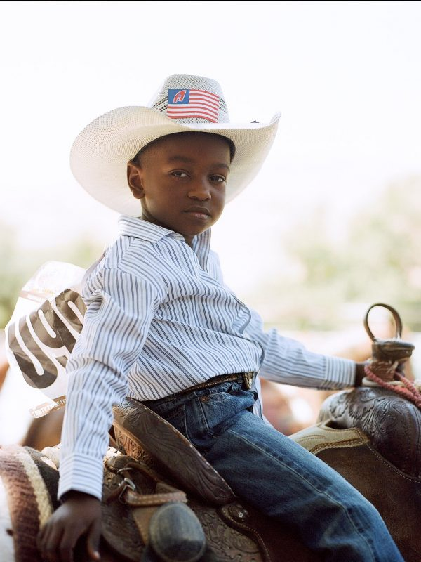 A young contestant at The Bill Pickett Invitational Rodeo in Oakland, California. July 2017.