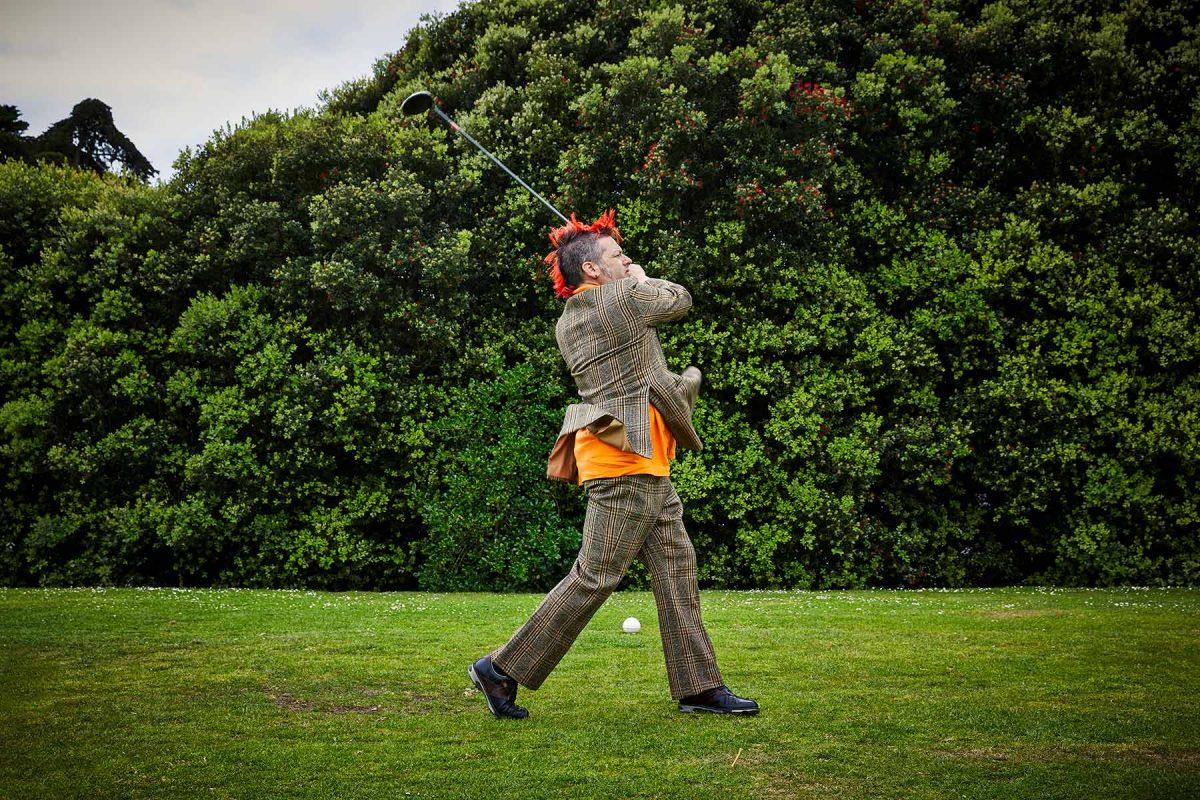Fat Mike Burkett of The Mediocre Golf Association.