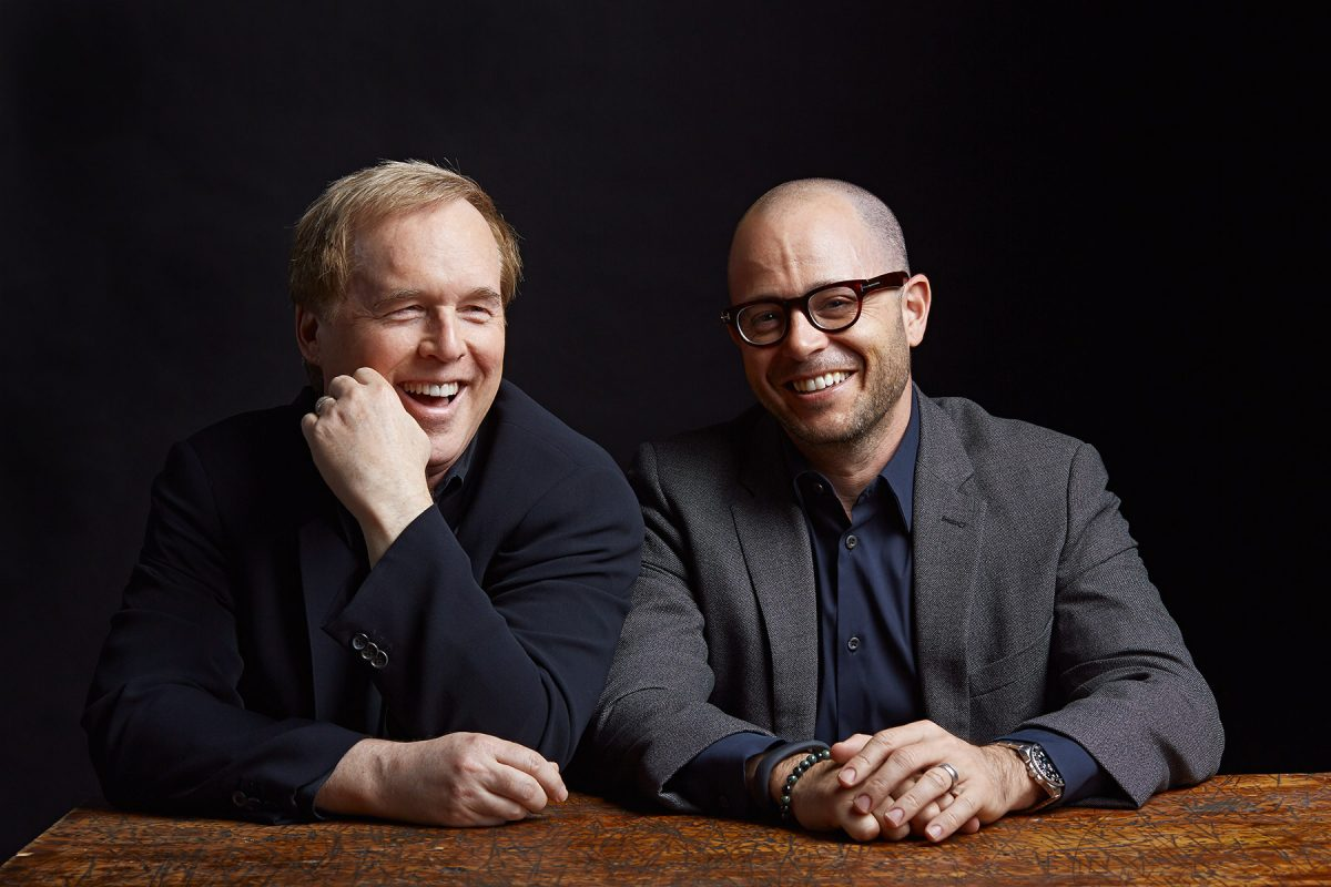 Brad Bird and Damon Lindelof of the film Tomorrowland. Photographed for WIRED magazine.
