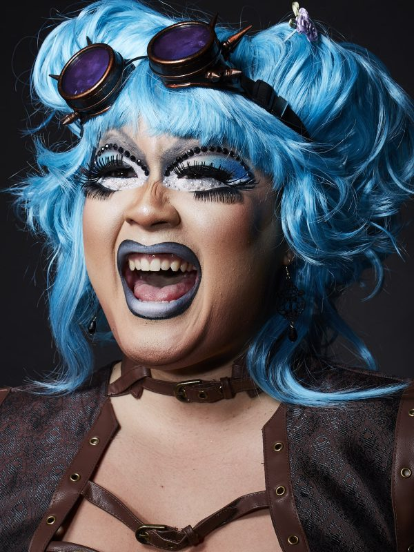 Panda Dulce of The Rice Rockettes, an all Asian drag queen group.