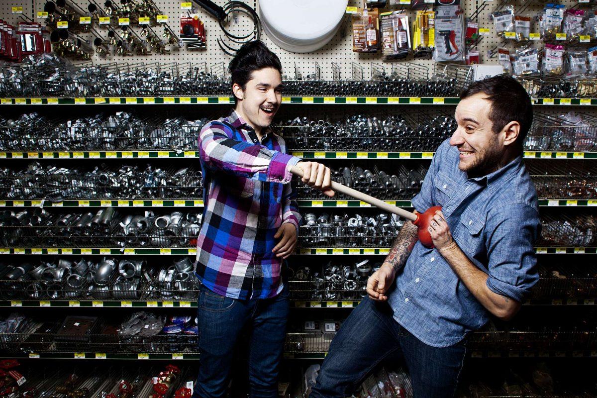 Original Plumbing Founders, Amos Mac and Rocco Kayiatos.