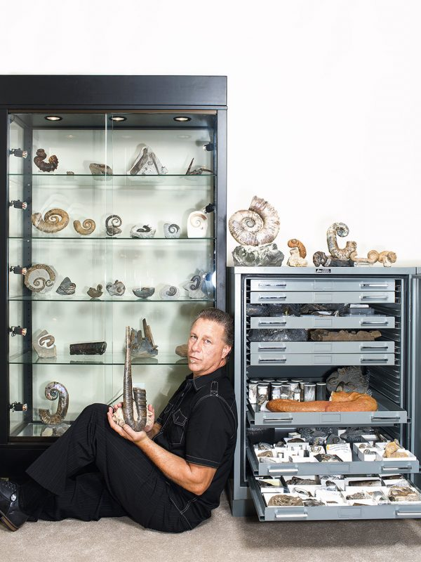Fossil collector Joseph Huston.