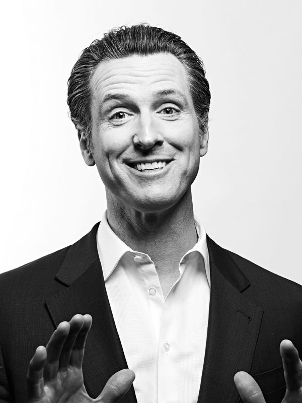 Gavin Newsom, Lieutenant Governor of California since 2011.
