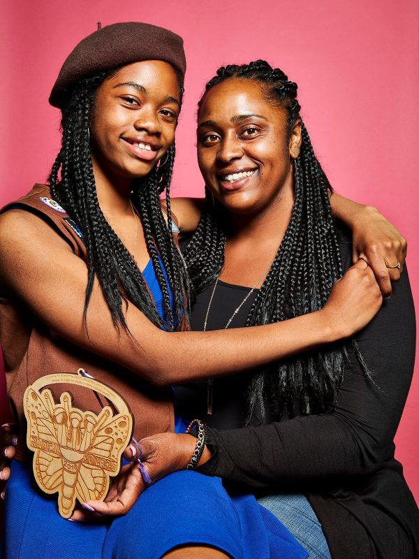 De'Yani Dillard and Laticia Erving at The Radical Monarchs graduation ceremony in Oakland, California, June 10th, 2018. The Radical Monarchs empower young girls of color so that they stay rooted in their collective power, brilliance and leadership in order to make the world a more radical place. The Radical Monarchs also create opportunities for young girls of color to form fierce sisterhood, celebrate their identities and contribute radically to their communities.