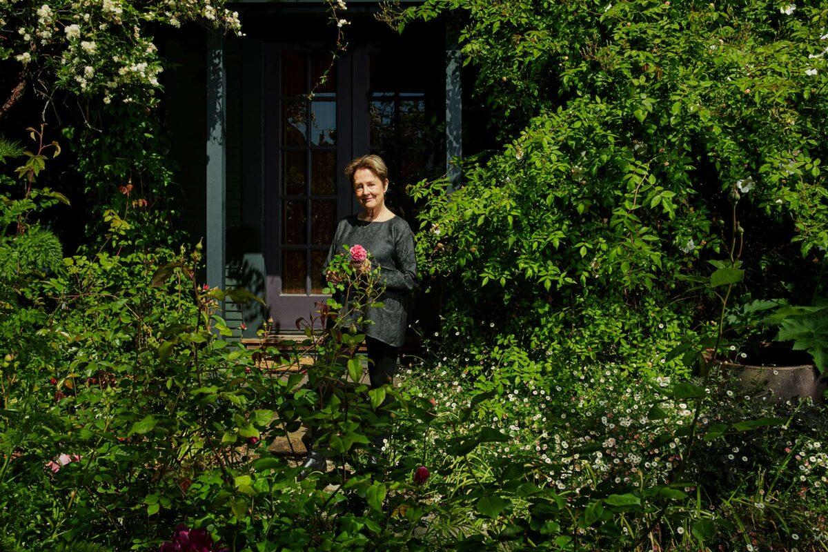 Alice Waters at home in Berkeley, California.