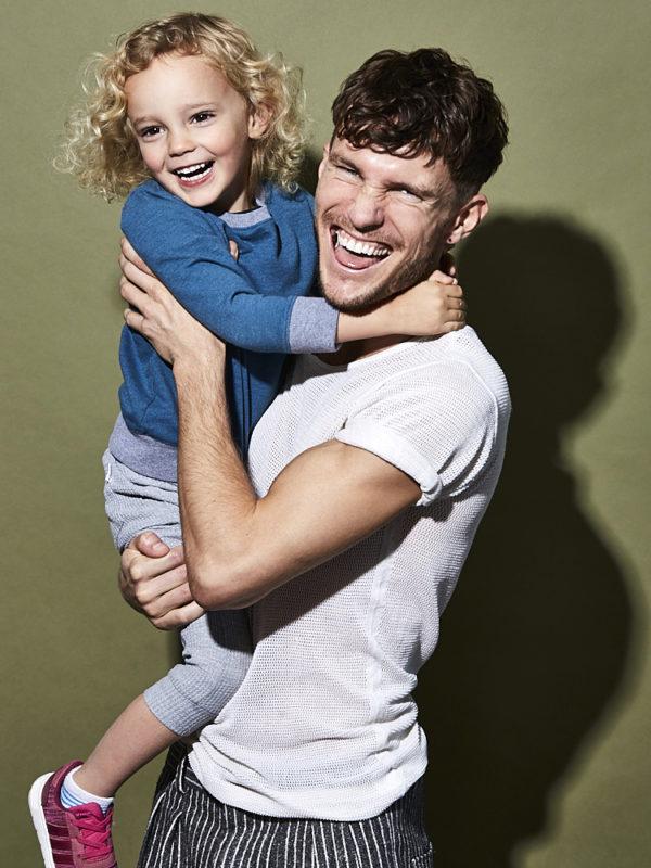Interior Designer Sean Leffers and his son Julian, shot for House Beautiful in San Francisco, California.