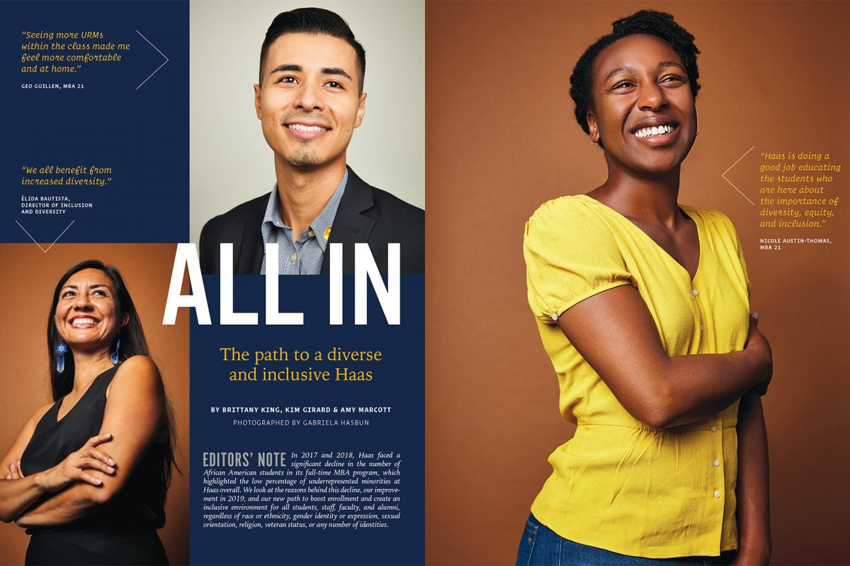 Diversity and Inclusion portraits for Haas School of Business