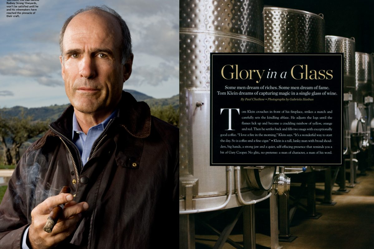 Tom Klein of Rodney Strong Vineyards forCigar Aficionado