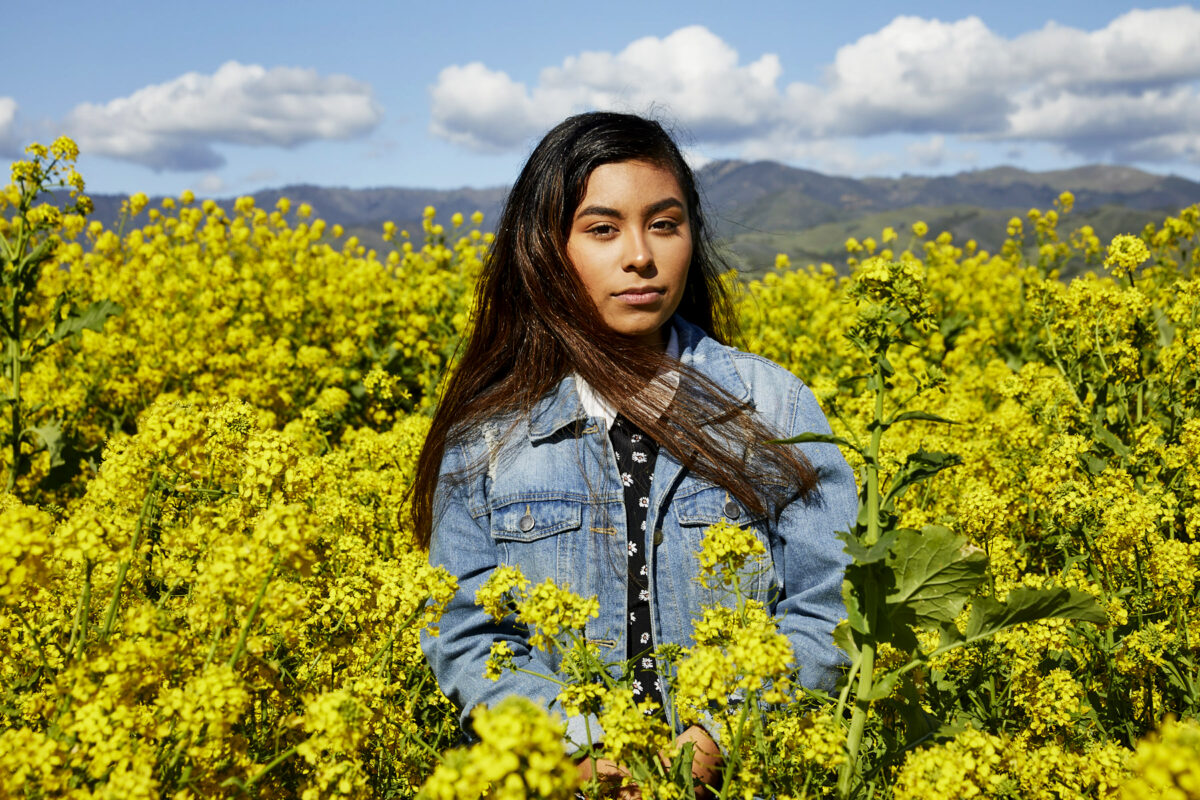 Magaly Santos, Youth Organizer and Student at Greenaction for Health and Environmental Justice. Photographed in Gonsalez, California on MArch 30th, 2020.