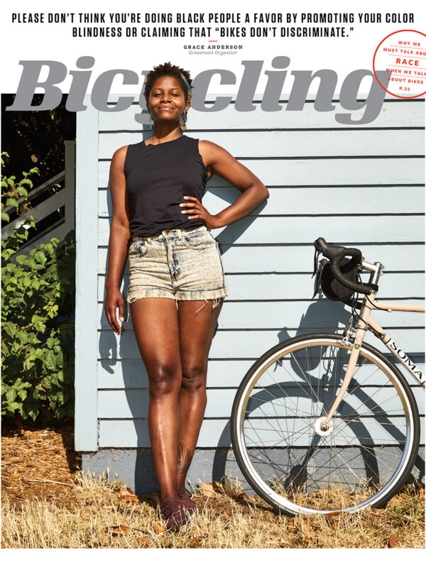 Grassroots organizer, Grace Anderson for Bicycling Magazine. Anderson speaks up about race in the cycling world.