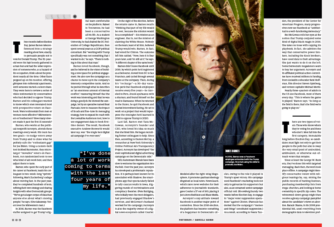 James Barnes, former Facebook Employee, photographed for WIRED.