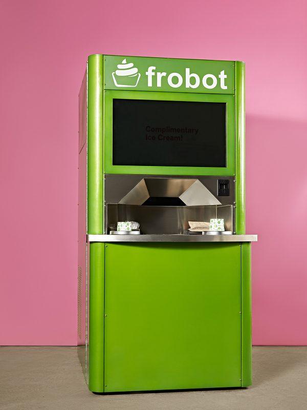 Frobot soft serve ice cream machine.