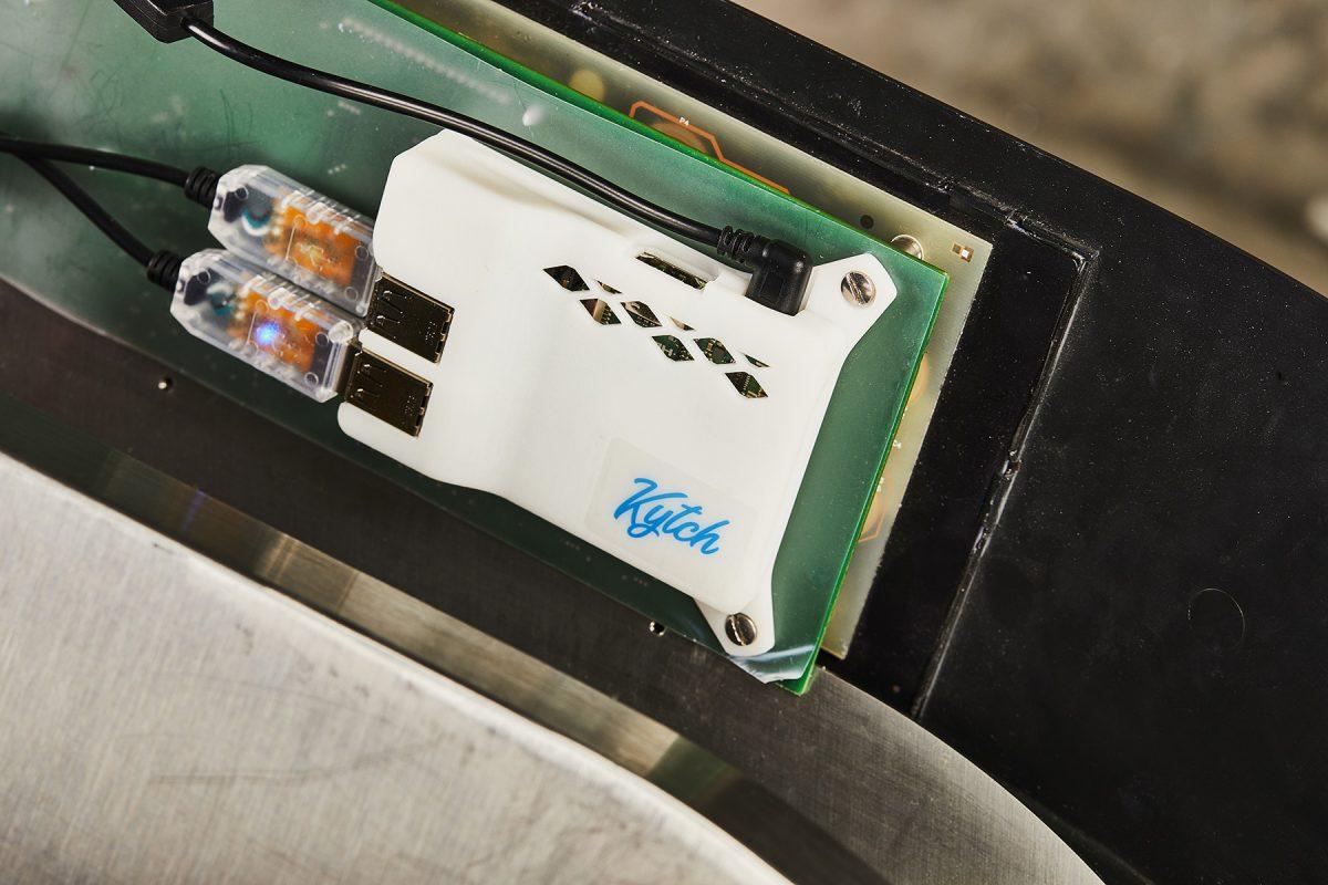 Kytch device installed inside a Taylor C716 machine.